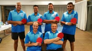 RTTC League Teams Faizal Noor, Vishaan Singh, Kovilin Govender, Reuven Naidoo; Front Marco Maene & Martin Bizior