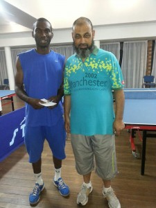 Winner Osuji Chijioke with Tournament Ref Moegamad Isaacs